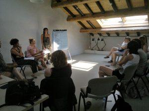 fot. 8: Uczestnicy wizyty studyjnej na spotkaniu w C.O.R. – Projecto SRAR – system opieki nad uchodźcami