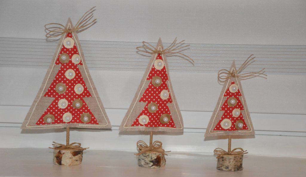 Dekoracje świąteczne w kształcie choinek