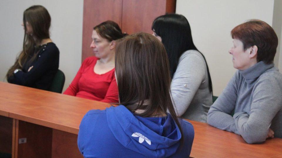 Zdjęcie uczestniczek wizyty Powiatowego urzędu pracy w Nakle