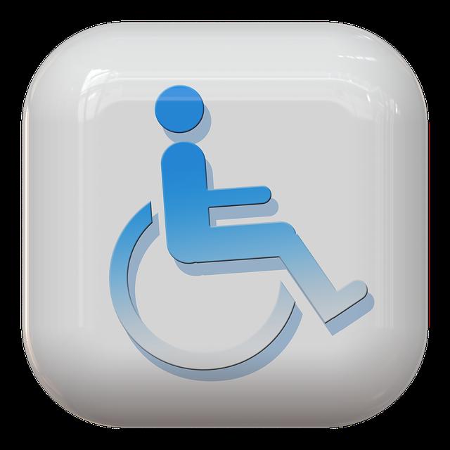 znak osoby niepełnosprawnej