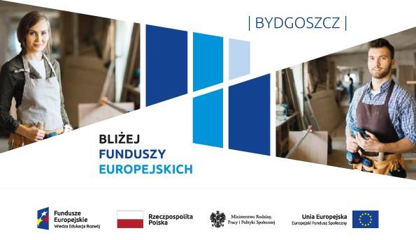 """Logo akcji """"Bliżej funduszy europejskich - Bydgoszcz"""""""