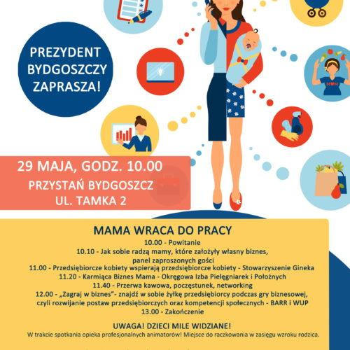 Wyjdź z domu, poznaj mamy takie jak Ty i zacznij działać! – Maj MaM w Bydgoszczy