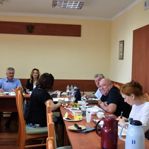 Rada Pożytku Publicznego Powiatu Bydgoskiego po szkoleniu.
