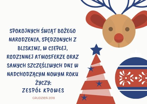 Życzenia świąteczne KPOWES 2018