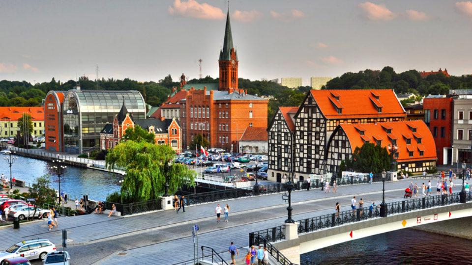 Bydgoszcz, zabytki, spichrze, brda