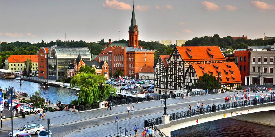 Zdjęcie starego miasta w Bydgoszczy
