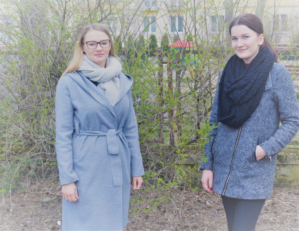 Zdjęcie dwóch nowych członkiń kadry KPOWES - Patrycja i Magda