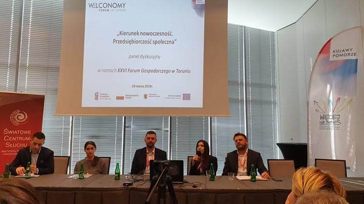 Panel szesnastego forum gospodarczego w Toruniu