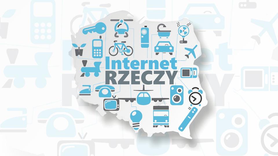 """Mapa polski z tytułem """"Internet rzeczy"""""""
