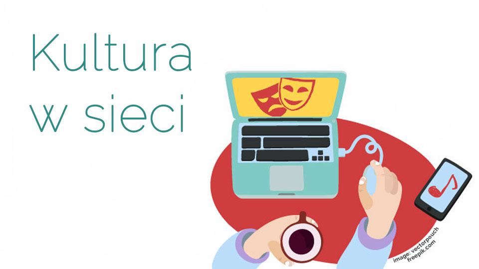 """Logo akcji """"Kultura w sieci"""""""