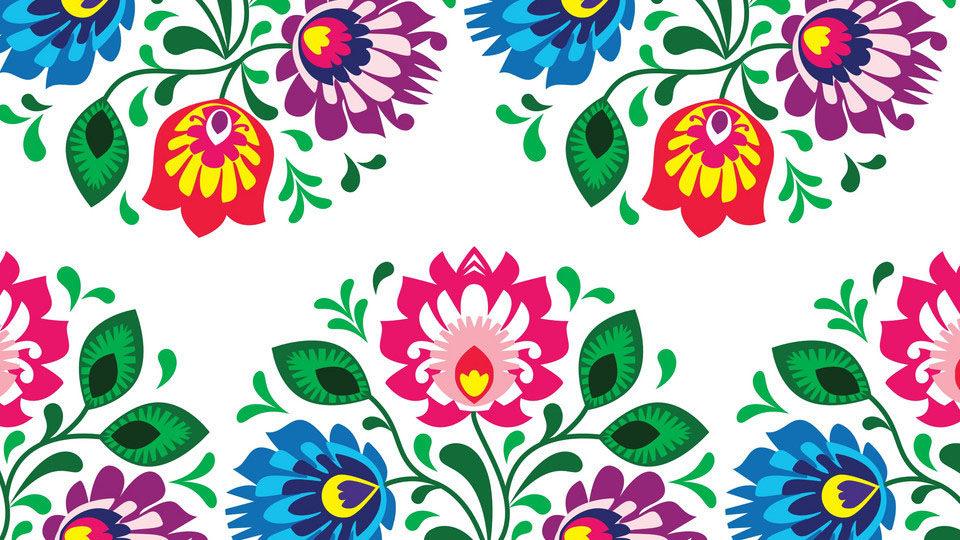 Ludowe wzory kwiatów