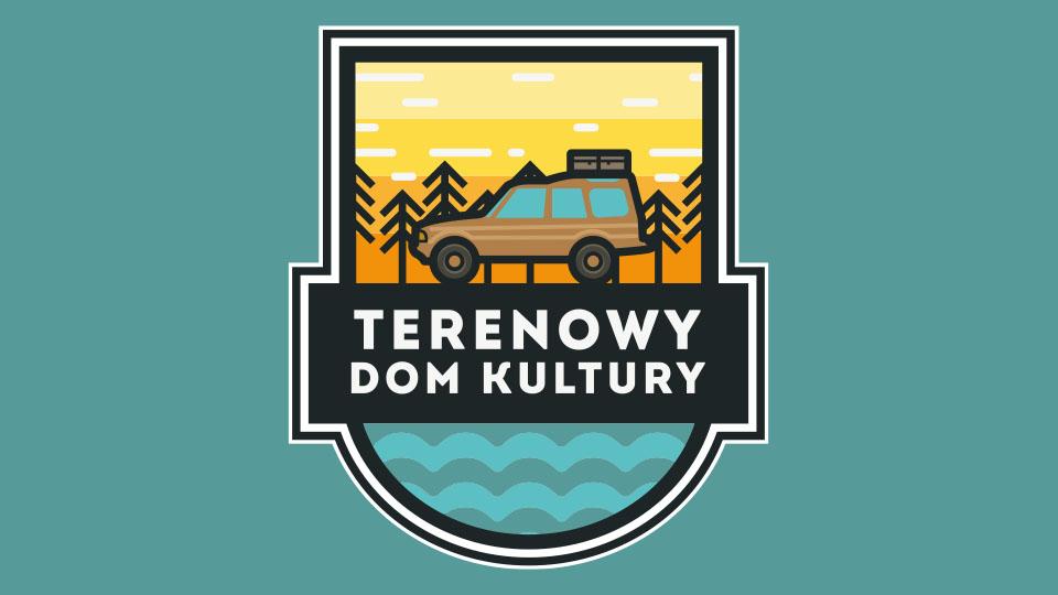 """Logo samochodu SUV z napisem """"Terenowy dom kultury"""""""