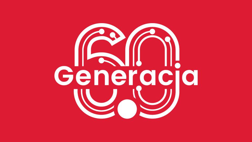 """Logo z napisem """"Generacja 60"""""""