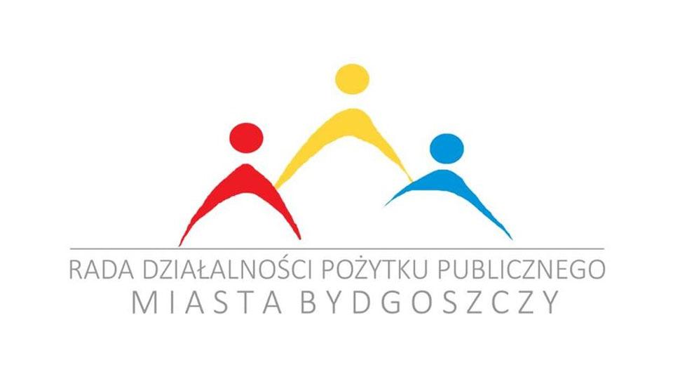 """Logo z napisem """"Rada działalności pożytku publicznego miasta Bydgoszczy"""""""
