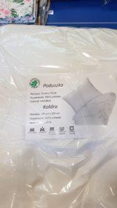 Zdjęcie kompletu poduszki z kołdrą;