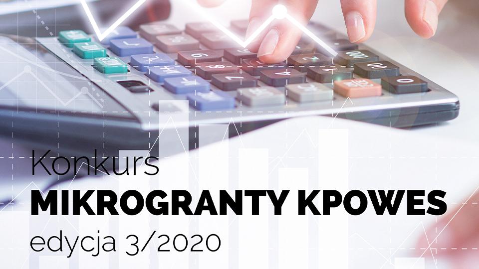 Grafika promujaca mikrogranty edycję 3/2020