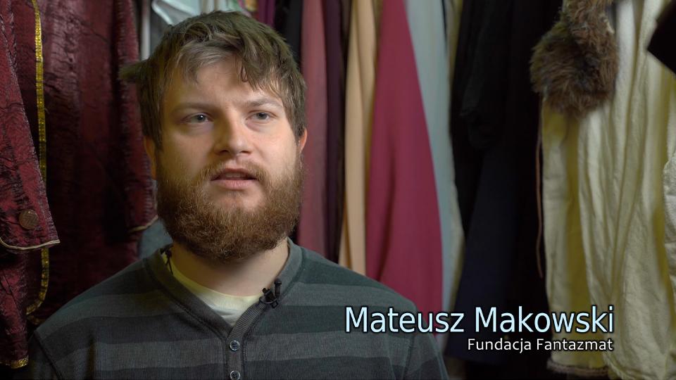 Kadr z filmu o fundacji Fantazmat