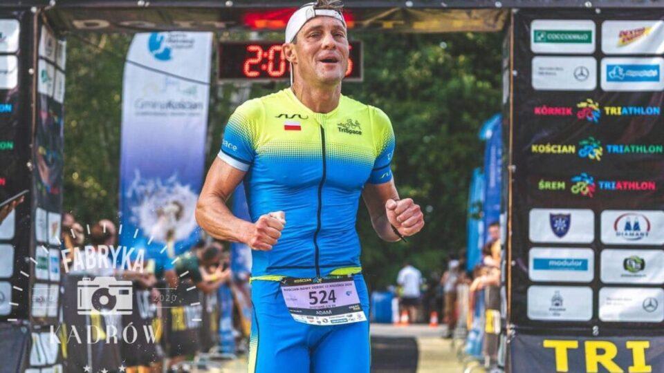 triathlonista na zawodach
